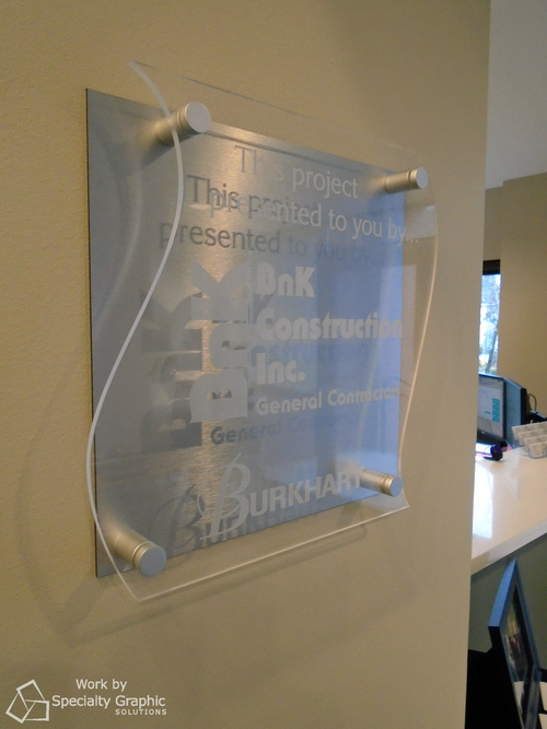 Custom acrylic office signs in Vancouver WA