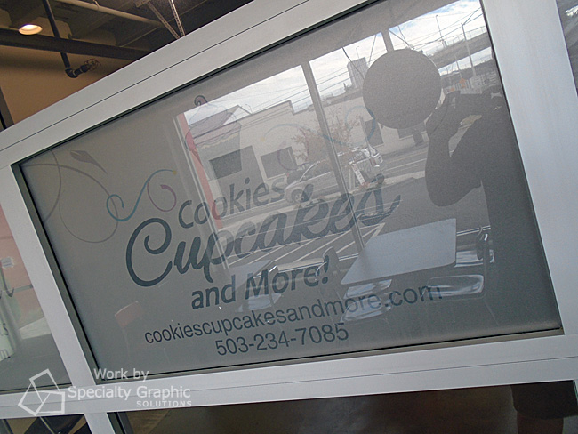 Frosted Vinyl Window Graphics in Vancouver WA