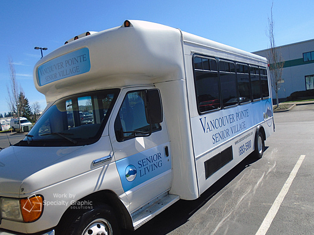 Shuttle Bus Graphics for Senior Centers in Vancouver WA