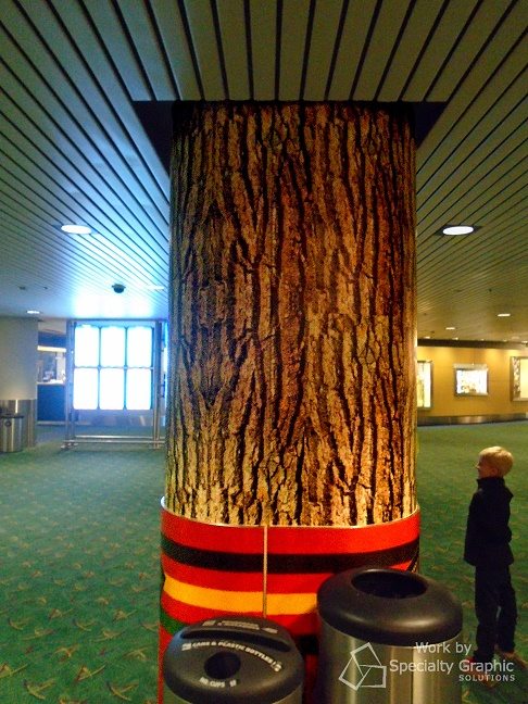 Retail Store Column Wraps at PDX Airport
