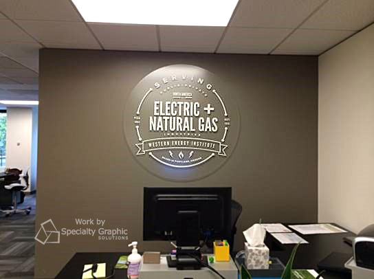 Lobby sign fabrication for graphic designers