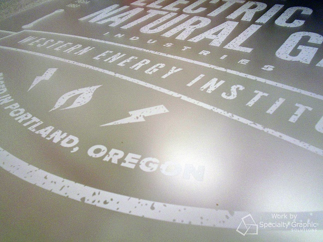 Lobby sign fabrication in Vancouver WA