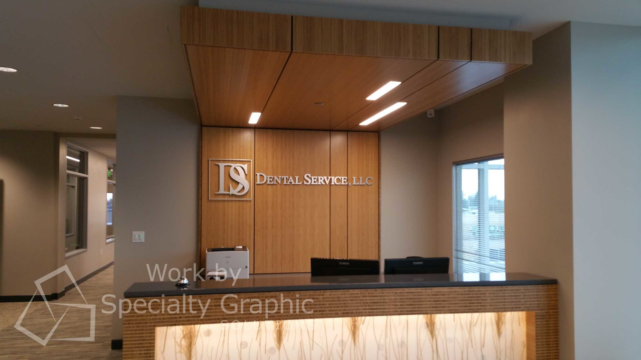 3d letter logo lobby signs in vancouver great for dental firms