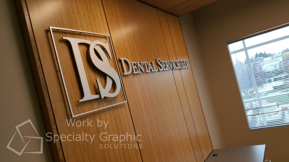 Brushed Metal Lobby Signs in Vancouver WA
