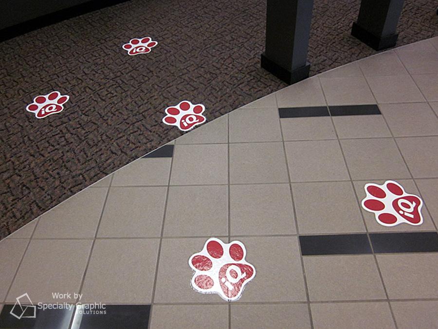 Vinyl floor graphics in Portland Oregon