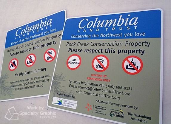 Aluminum Panel Signs Portland OR