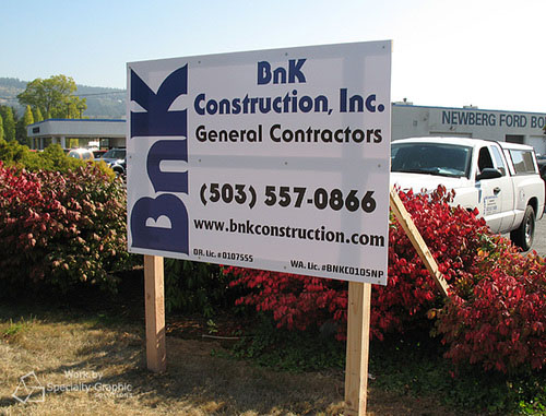 Commercial construction sign.