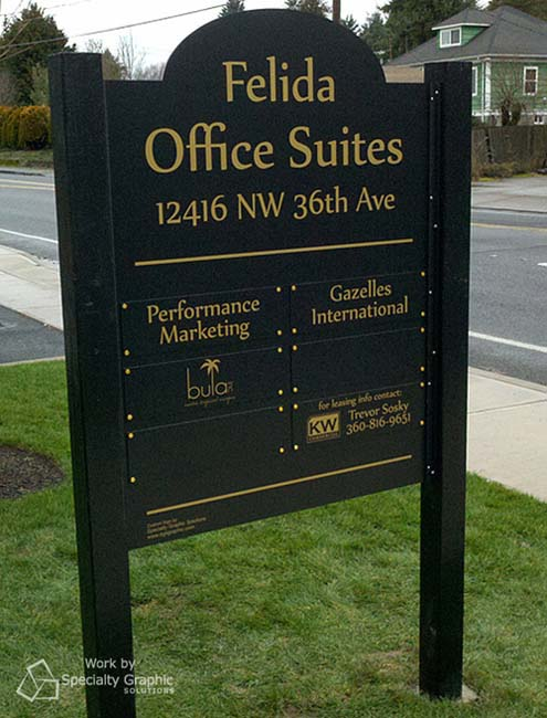 Office suites sign
