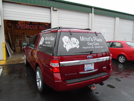Brand with Vehicle Graphics and Lettering in Ridgefield WA