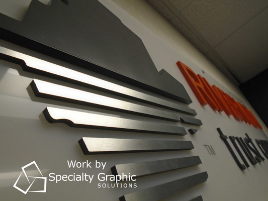 Brushed Aluminum Lobby Sign for Banks in the Portland Metro Area