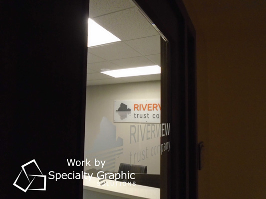 Office Door Lettering for Banks in the Portland Metro Area