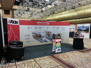 Alde is setup and ready to go on the showroom floor in Las Vegas, NV.