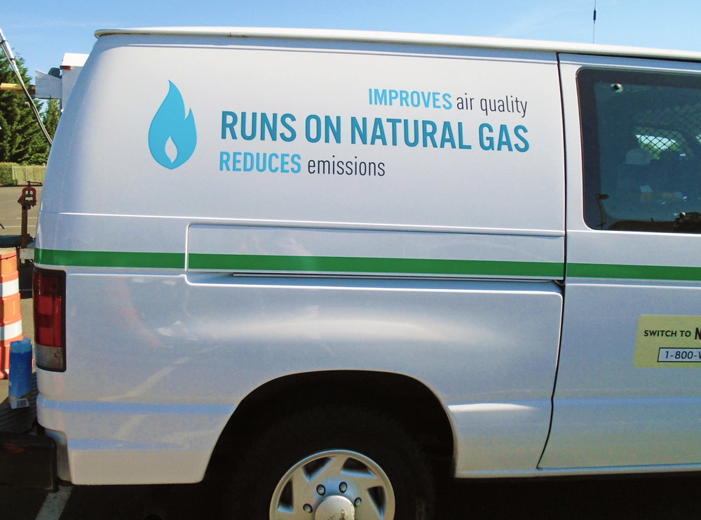 Fleet graphics for NW Natural Portland OR