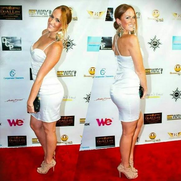 On the red carpet at an event for WE TV's America's It Girl on which I was a featured designer