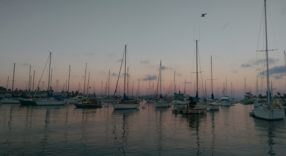 The view from Tío's sailboat.