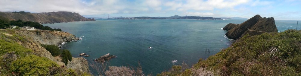 View of Bonita Bay & the Golden Gate Bridge from a hiking trail near my campsite.