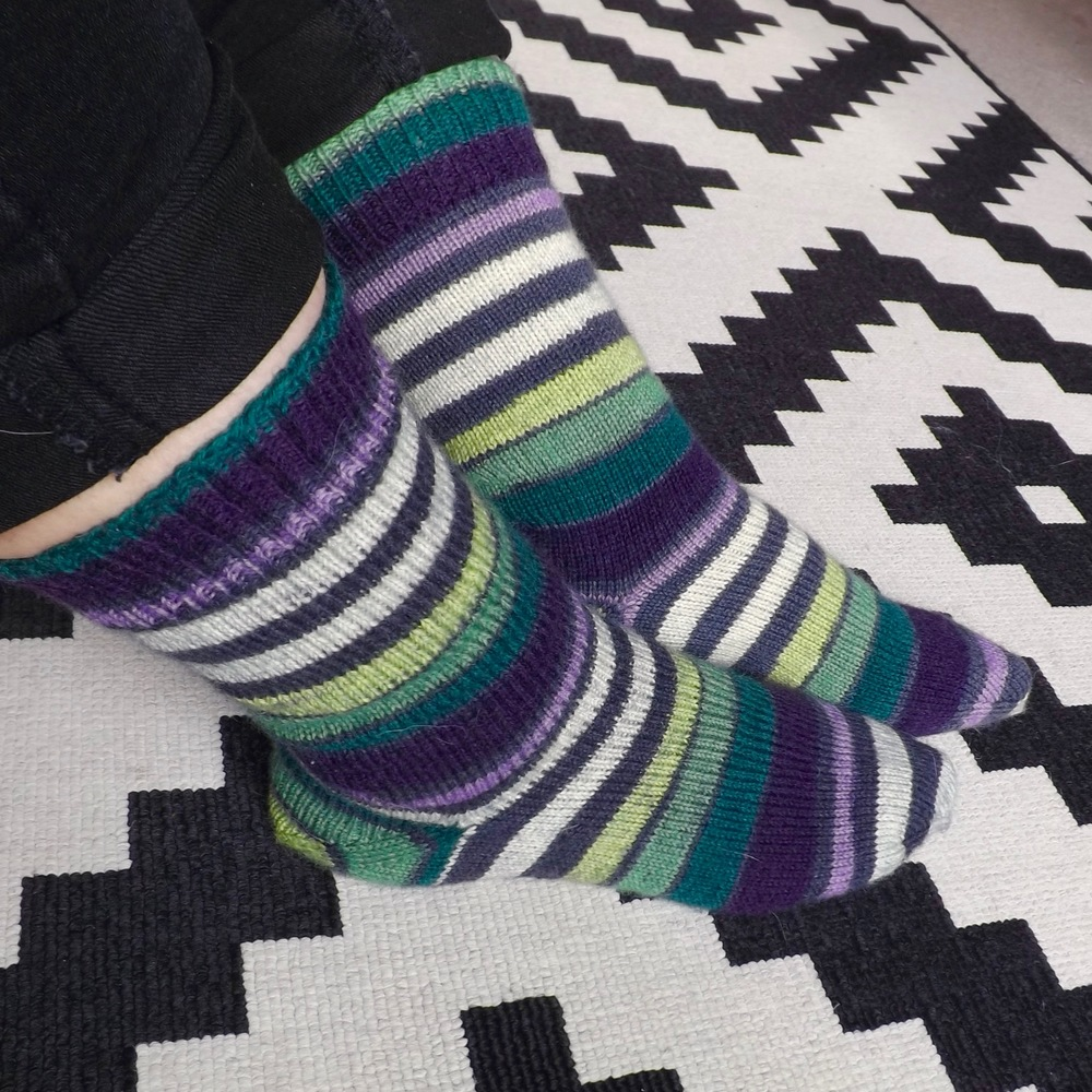 afterthought heel hand knit socks 1