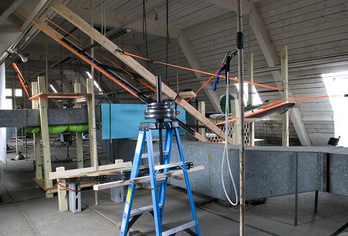Suspensions: Site B  (2011) Mixed media 15 x 20 x 20 feet