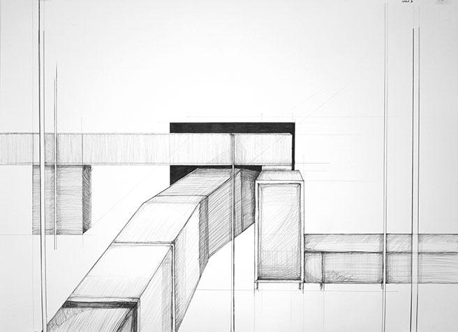 Site B  (2011) Graphite on bristol 22 x 30 inches
