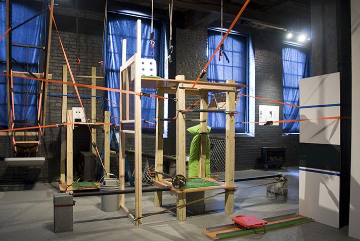 Suspensions: Site E (2011) Mixed media 5 x 20 x 25 feet