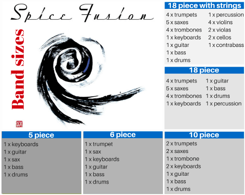 Spice Fusion band sizes