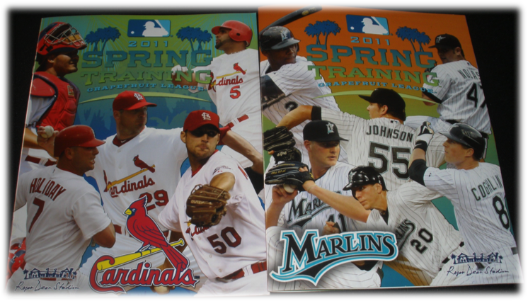2011 St. Louis Cardinals & Florida Marlins Spring Training Programs