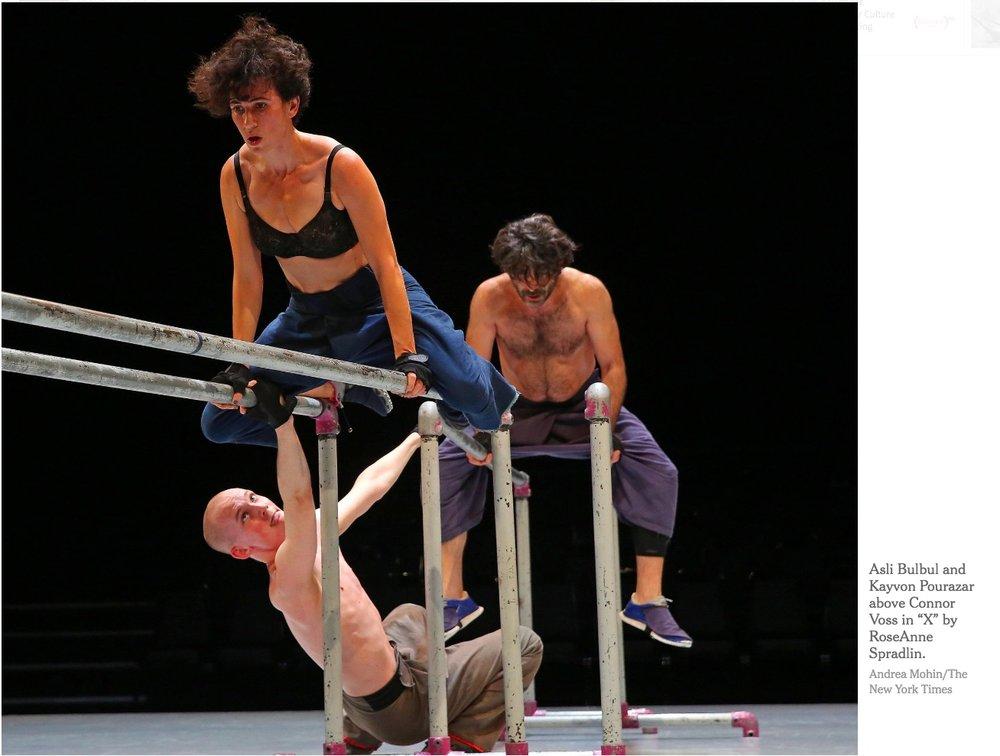 RoseAnne Spradlin's 'X' premiers at the Joyce Theater, NYC, September 29, 2016