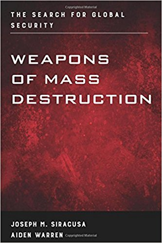 One of Professor Siracusa's books of weapons of mass destruction.