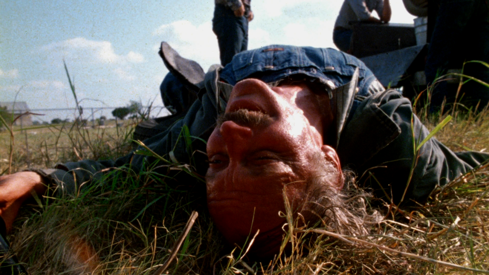 Drunk prophecies doom in cemetery in  Texas Chainsaw Massacre .