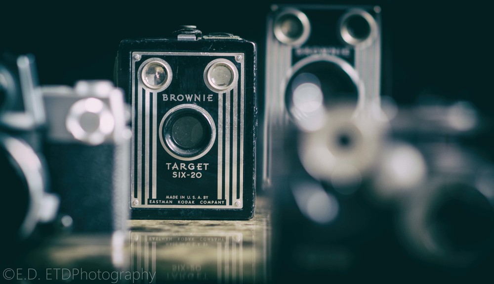 The Brownie Target Six-20 was a very popular cheap camera in the 1940's. Retailing at around $3.50.