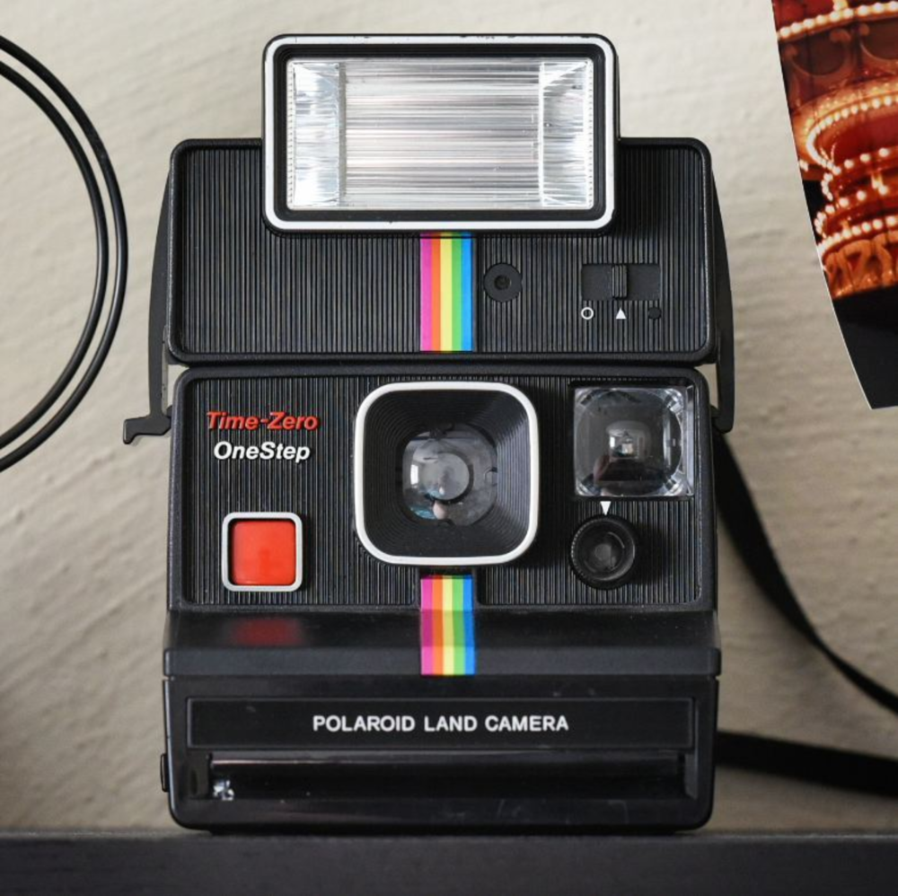 Time-Zero OneStep Polaroid Land Camera, but you already knew that.