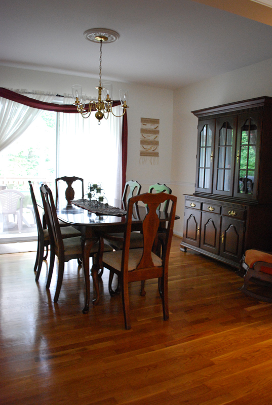 Purged Dining Room - Staged for Sale