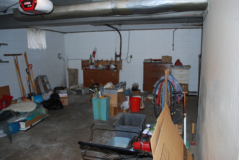 Before - Garage during our home inspection, 2012
