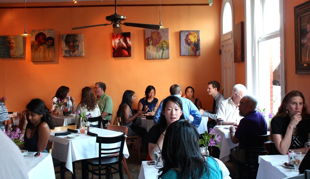 Guests dining at SoBo for Baltimore Restaurant Week