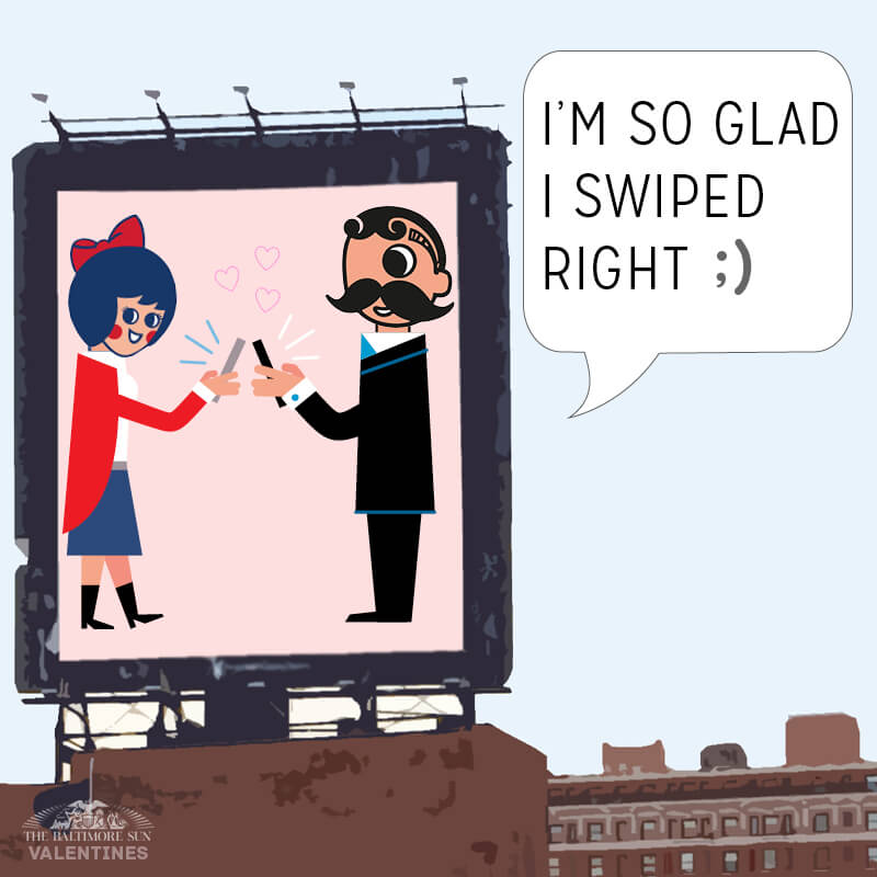 Image from The Baltimore Sun.  Click the image to check out all of their fun Baltimore-themed Valentine's Day cards.