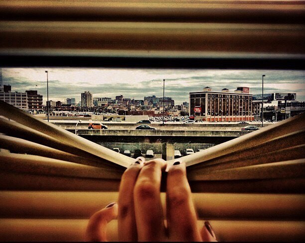 Baltimore through the blinds. #throwback