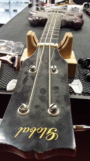 Vintage Bass Guitar with a very twisted neck