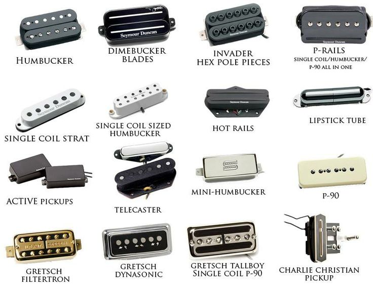 These are some of the various types of electric guitar pickups.