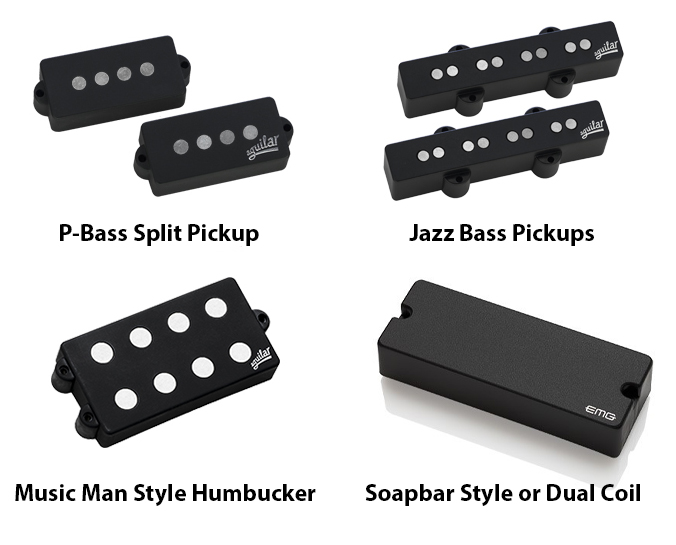 These are some of the common bass pickup types