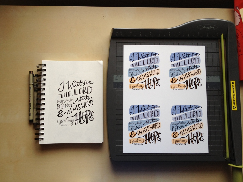 One of my favorites from the Psalms series... mini-prints!