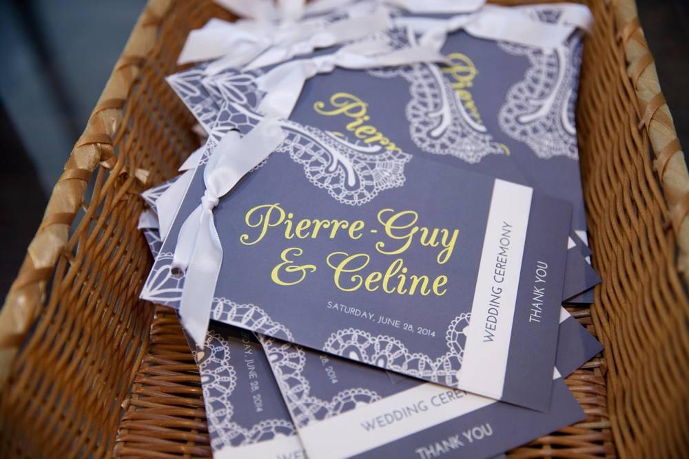 custom wedding program booklet