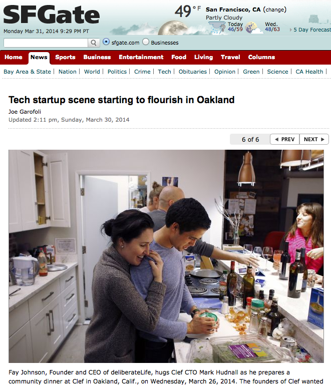 SFGate: Tech Startup Scene Booming in Oakland