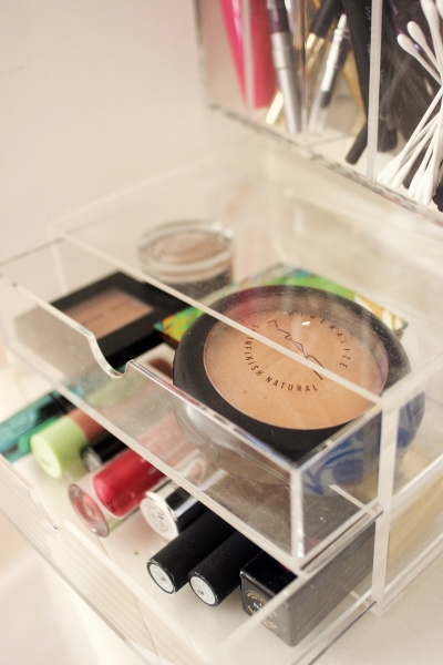 muji acrylic two drawer makeup storage