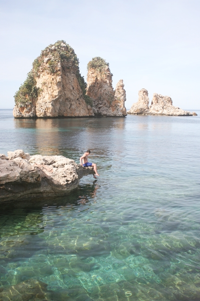 The water at Tonnara di Scopello