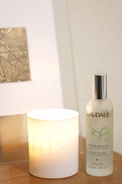 The ones that smell good: This Works deep sleep heavenly candle and the Caudalie Beauty Elixir