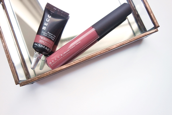 Becca Beach Tint in Watermelon and Ultimate Colour Gloss in Palm Breeze