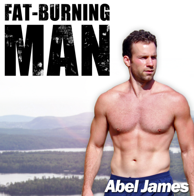 """Fat-Burning Man with Abel James - After years of frustration, sickness, and increasing flab, I stopped listening to the """"experts,"""" """"gurus,"""" and even my doctors. I buried my nose in the research and experimented on myself like a lab rat until I found the truth. And man, it was a doozy.It turns out that my """"healthy"""" low-fat, low-cholesterol diet and """"effective"""" running program recommended by magazines, TV shows, and my doctors, were actually causingme to be fat and sick."""