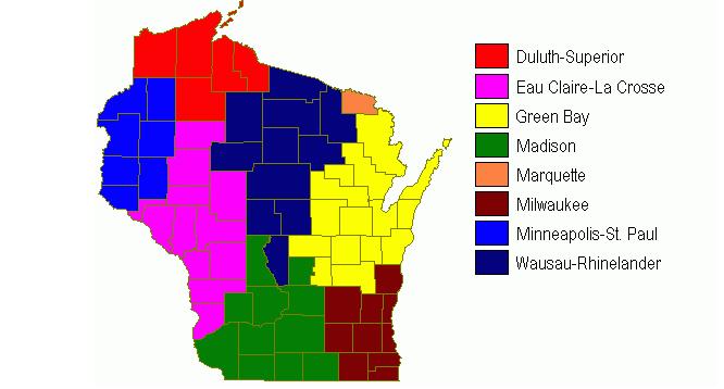 Wisconsin Media Markets Courtesy northline.com