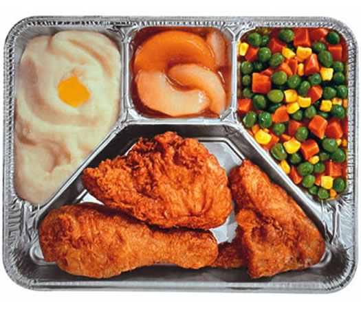 A perfectly proportioned TV dinner. Courtesy Loyola Marymount University