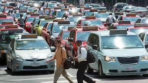 Washington, DC taxi drivers block traffic in protest - because that would make you more popular. Courtesy Getty Images